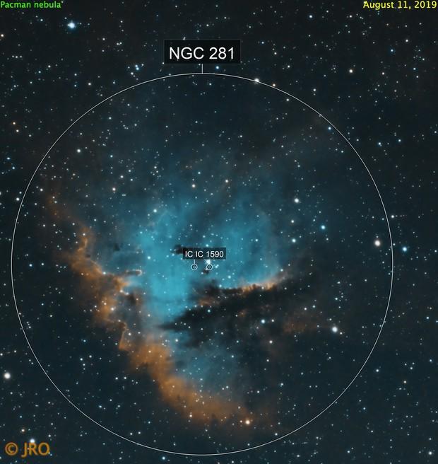 Pacman nebula in SHO
