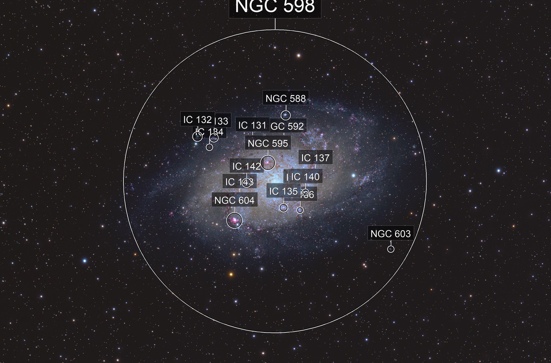 Messier 33 Triangulum or Pinwheel Galaxy