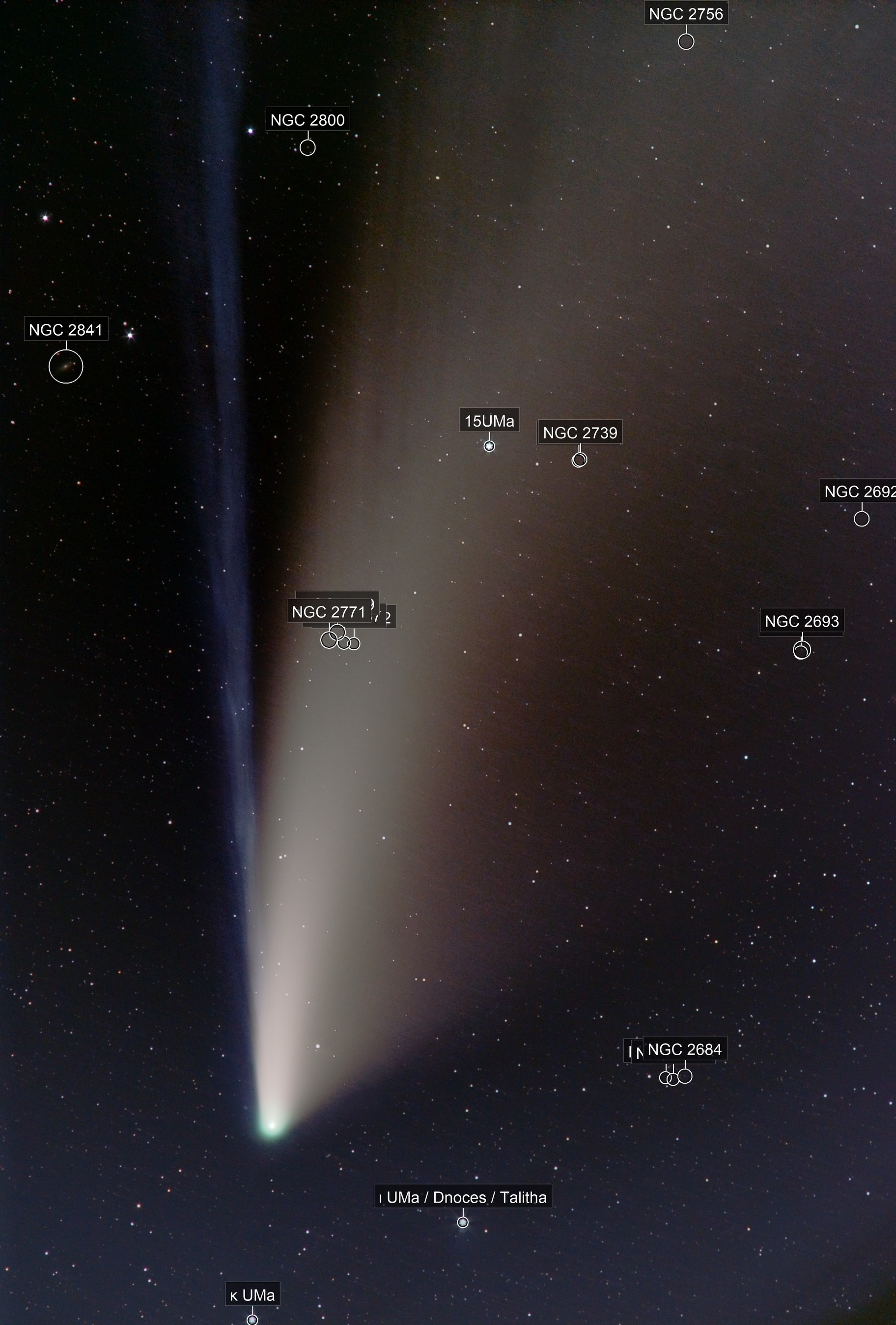 Comet C/2020 F3 NEOWISE from Flagstaff, Arizona July 18