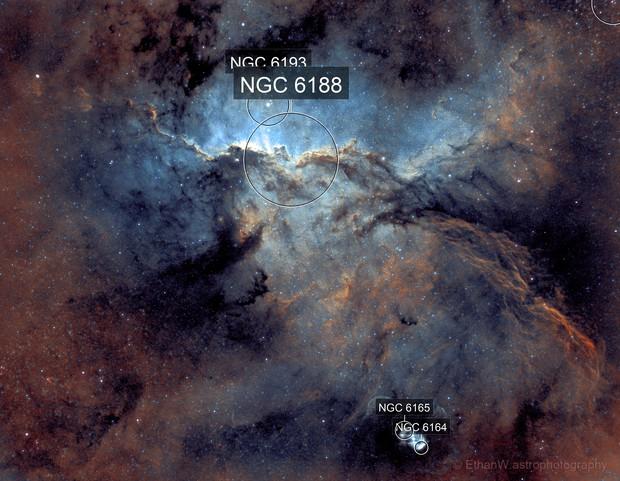 NGC 6188 Fighting Dragons of Ara Nebula