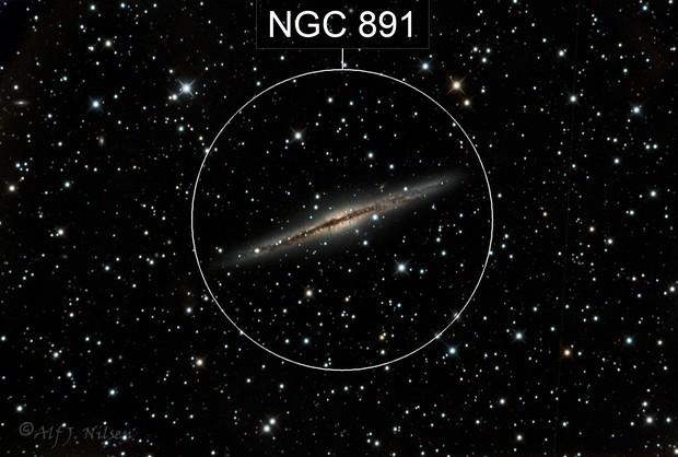 NGC891 Silver Silver Galaxy