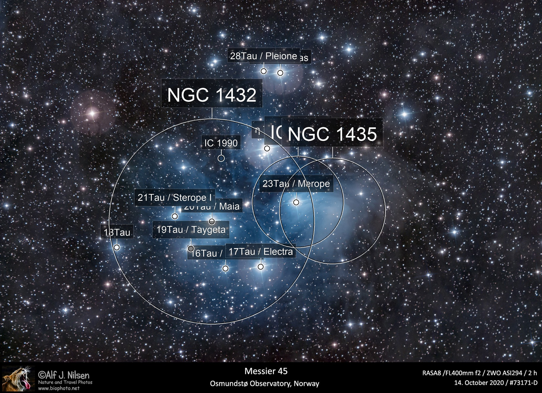 The Pleiades (Messier 45)