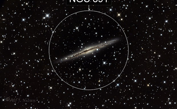 Silver Silver Galaxy NGC891