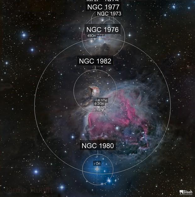 Orion Nebula and Running Man Nebula Mosaic