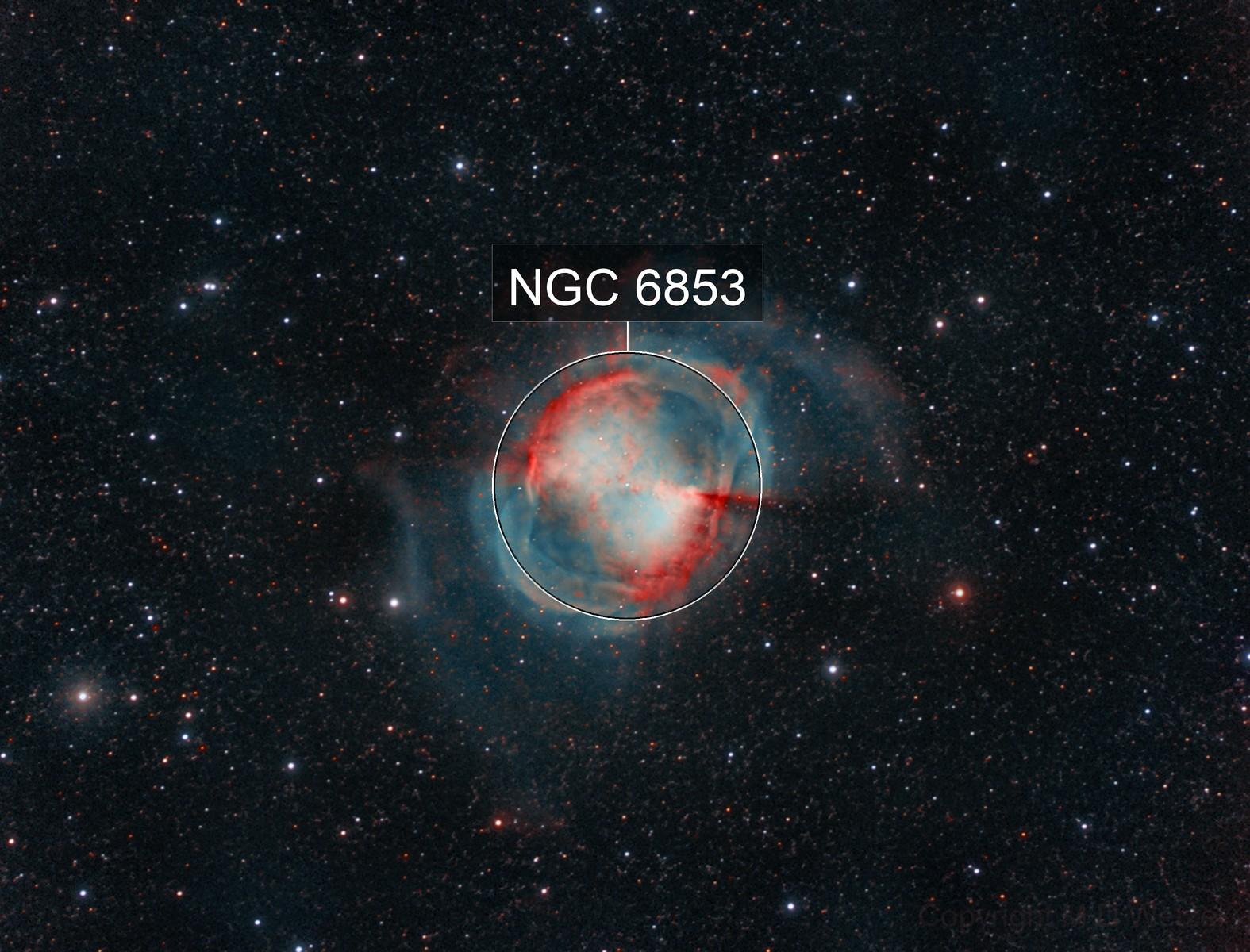 M27, The Dumbbell Planetary Nebula