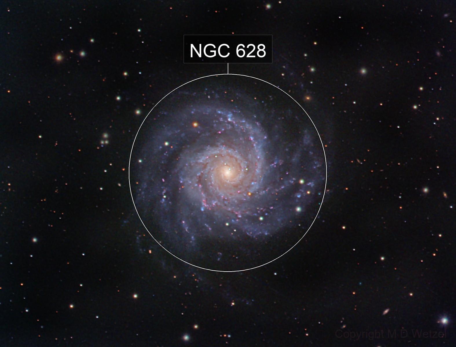 M74 the Phantom Galaxy in Pisces
