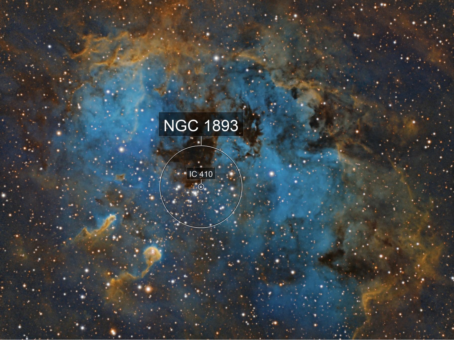 IC 410 the Tadpoles Nebula in Auriga