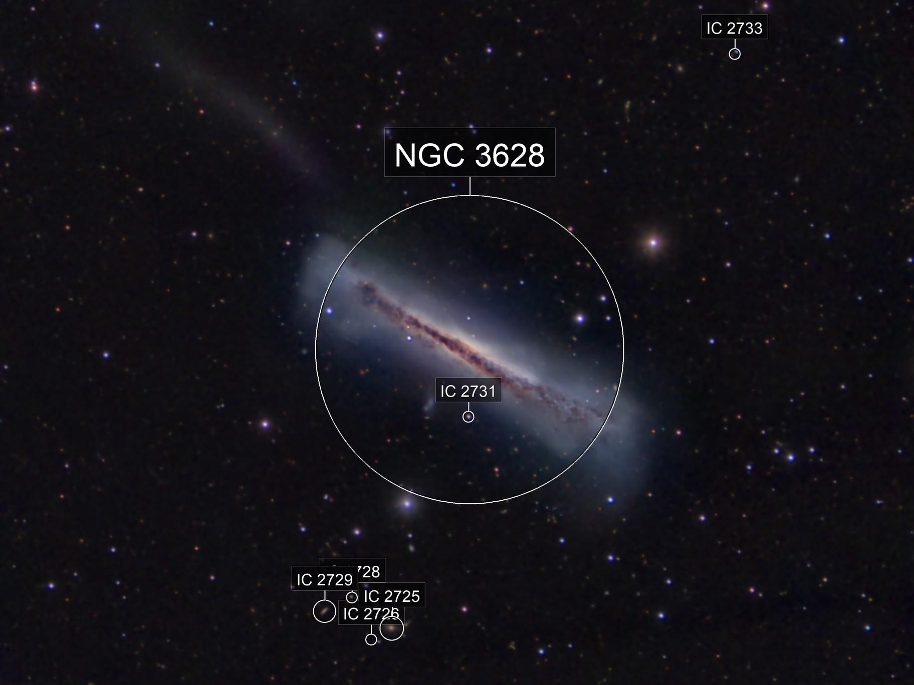 NGC 3628 the Hamburger Galaxy in Leo