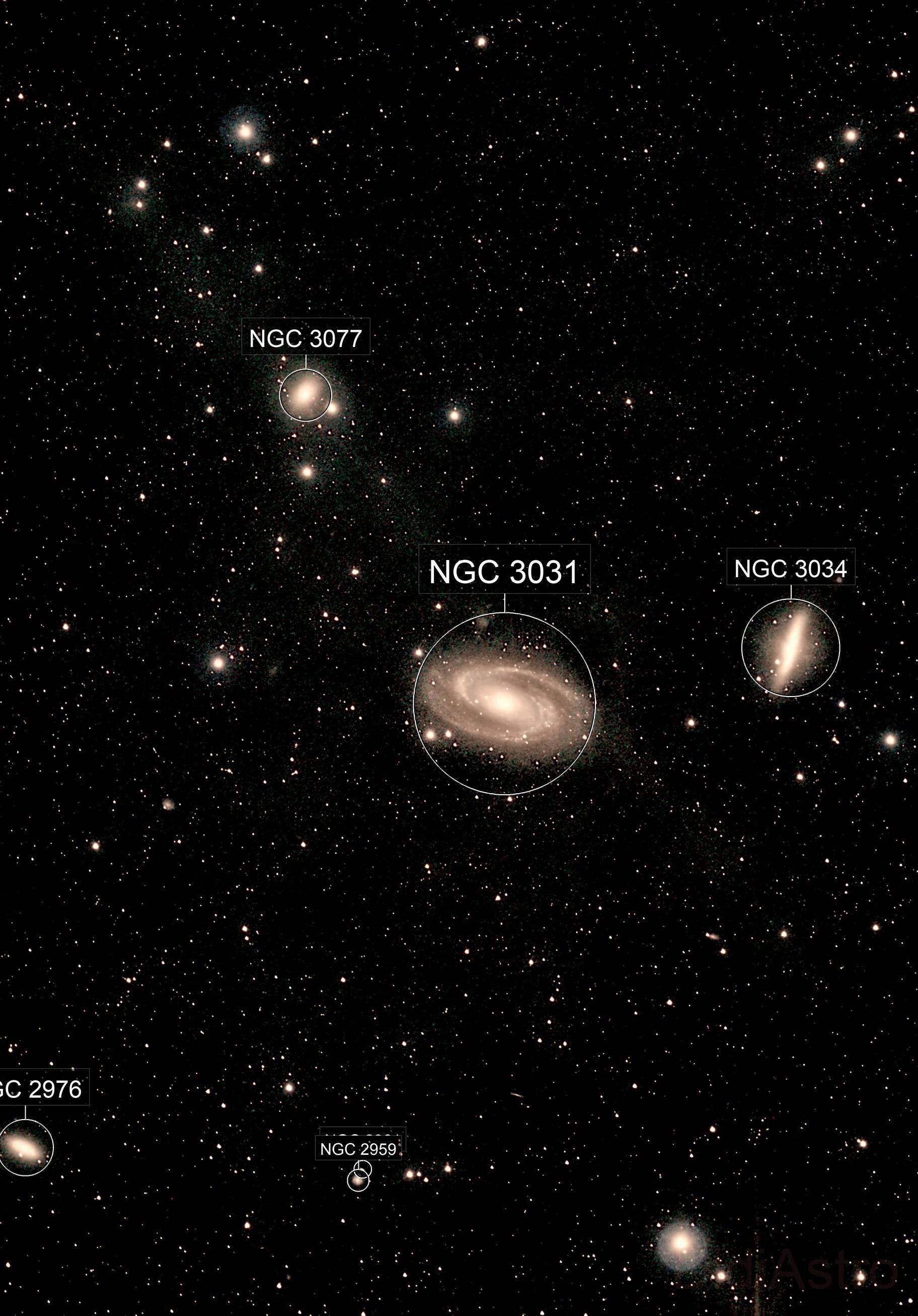 Les galaxies M81 et M82 dans la Grande Ourse