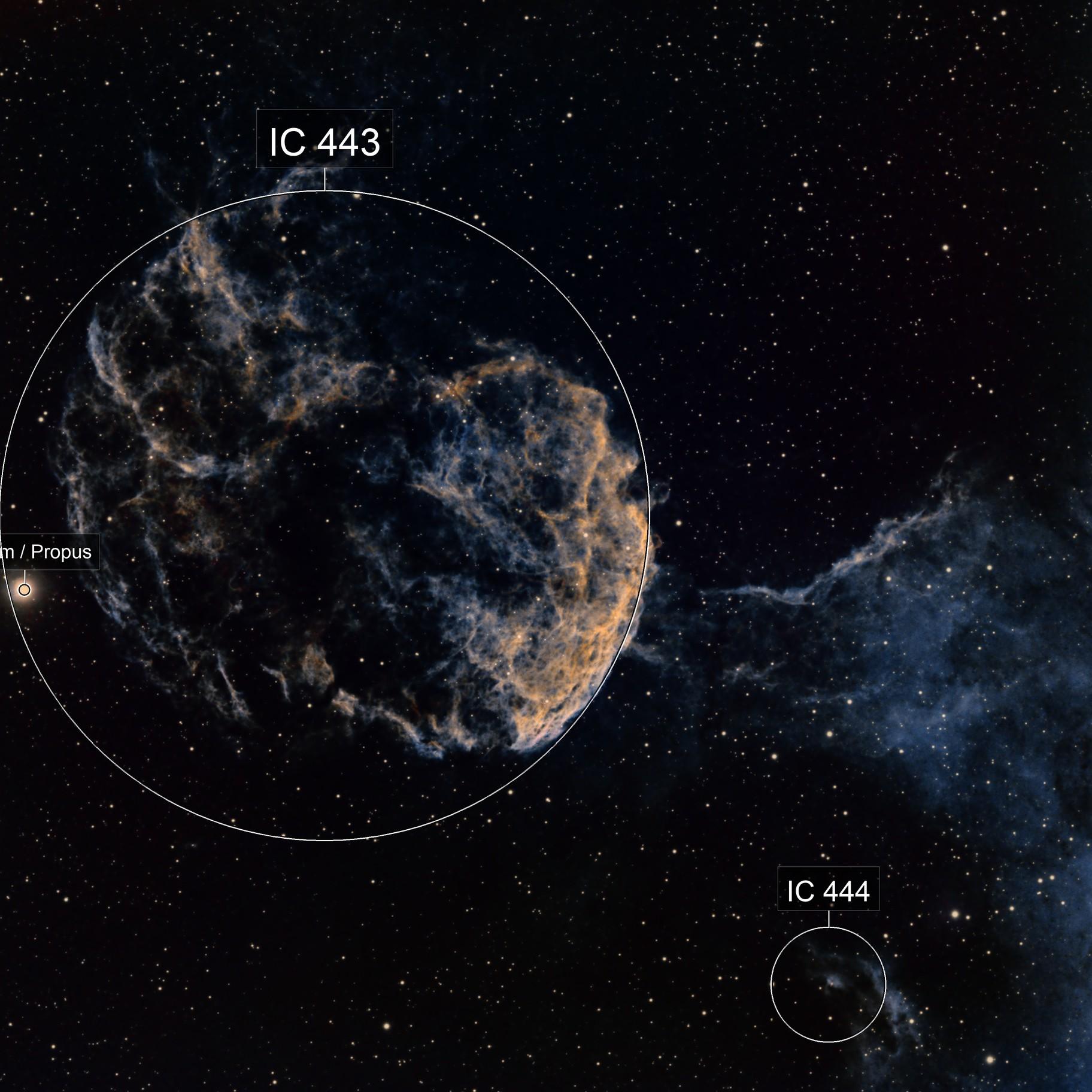 IC443 Jellyfish Nebula - SHO