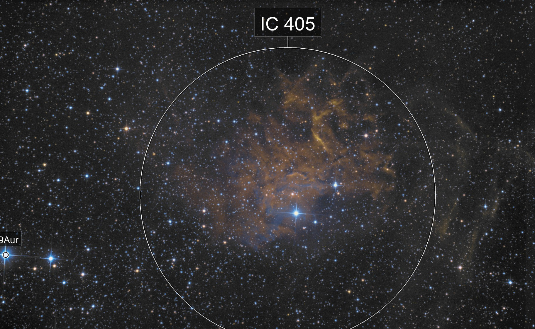 IC405 in Fake SHO (RGB)