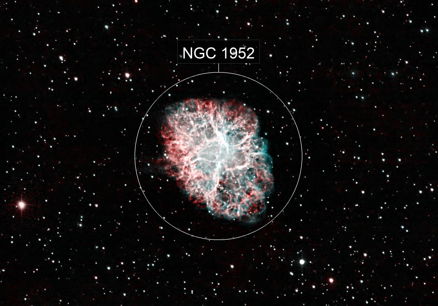 M 1 - Crab Nebula (HOO)