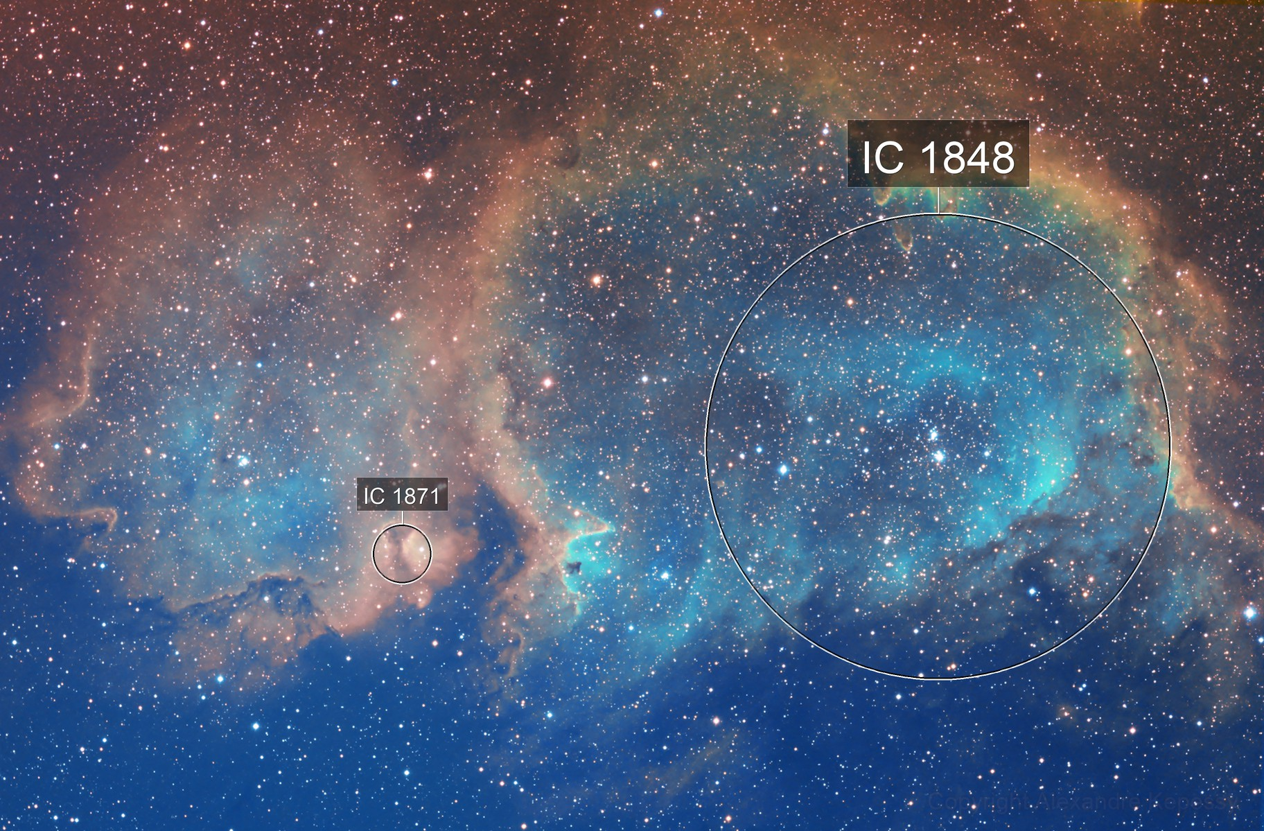IC1848 Soul Nebula SHO