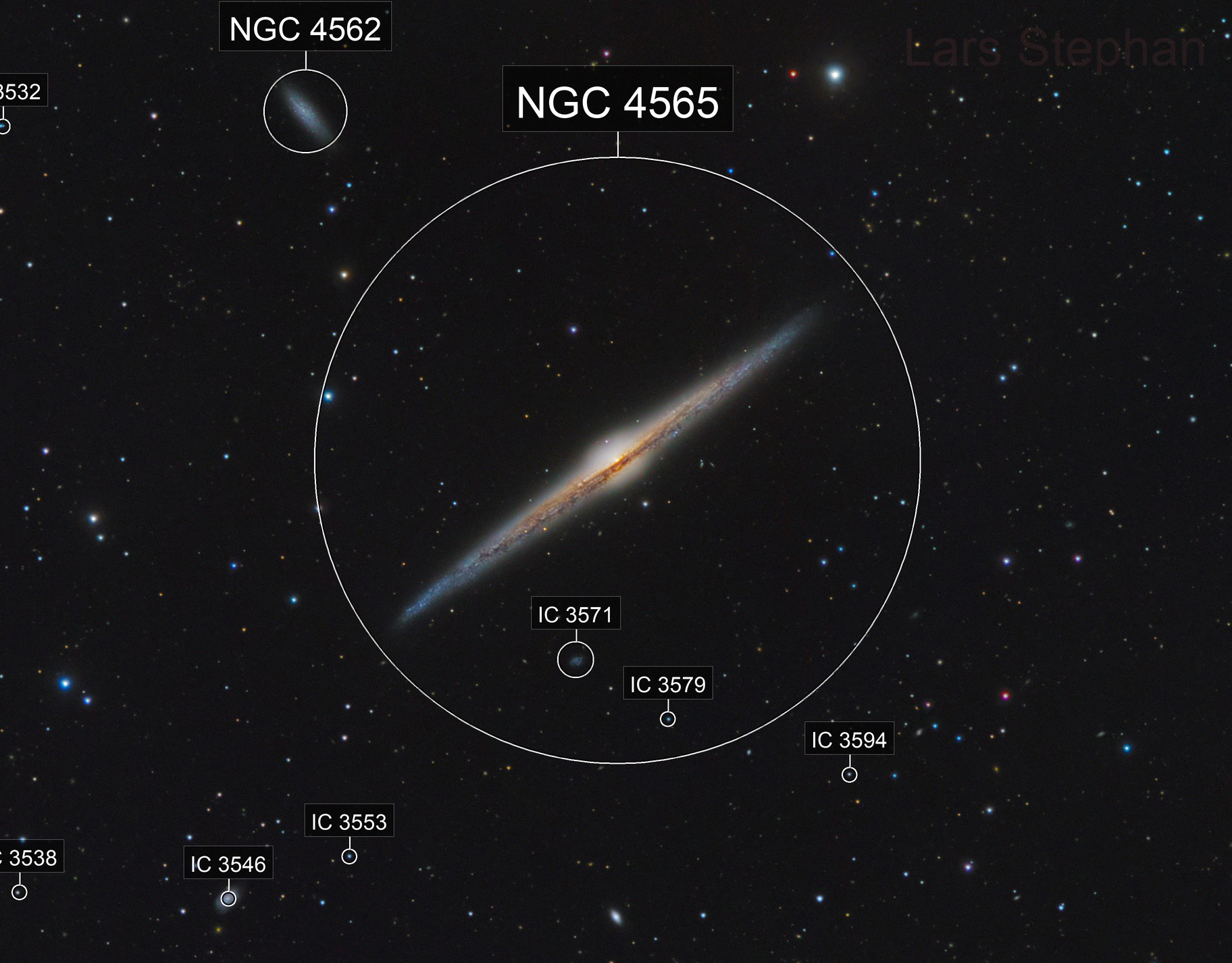 NGC 4565  - with globular clusters