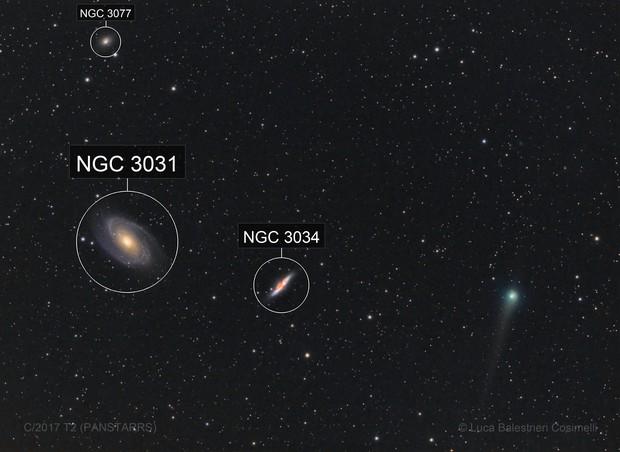 Comet C/2017 T2 (PANSTARRS) - M81 - M82 - NGC3077