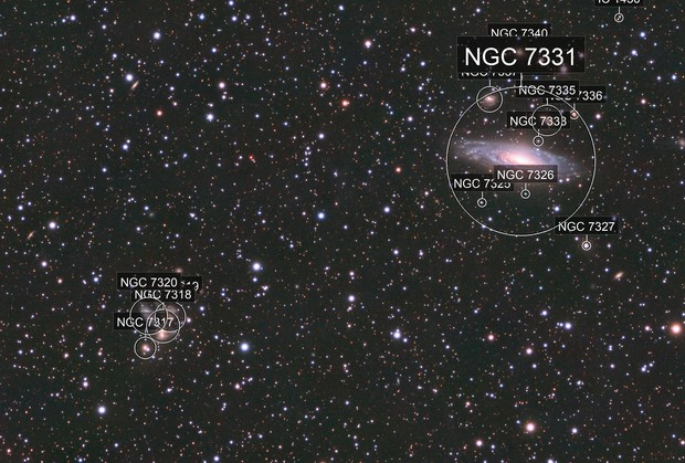 NGC7331 und Stephans Quintett