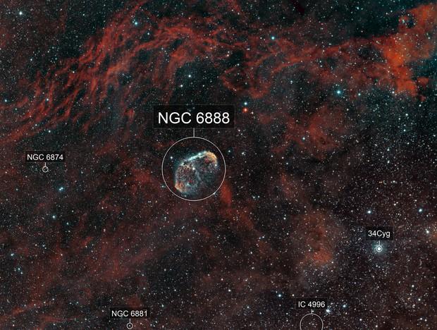 Crescent Nebula (NGC6888)