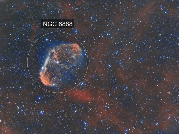 Crescent Nebula NGC6888 (dual rig)