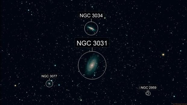 """M 81 & 82 (""""Bode's Nebulae"""") - HaRGB"""