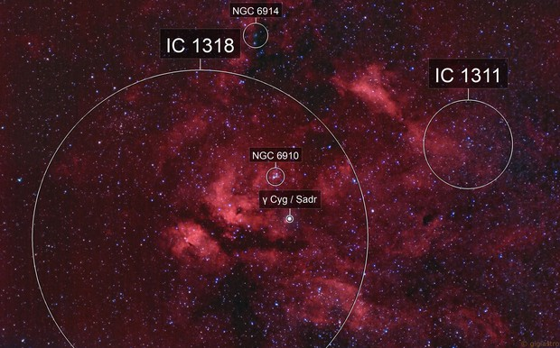 IC 1318 - gamma Cygni Nebula - HaRGB