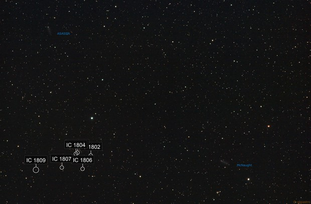 Two comets in the same field of view