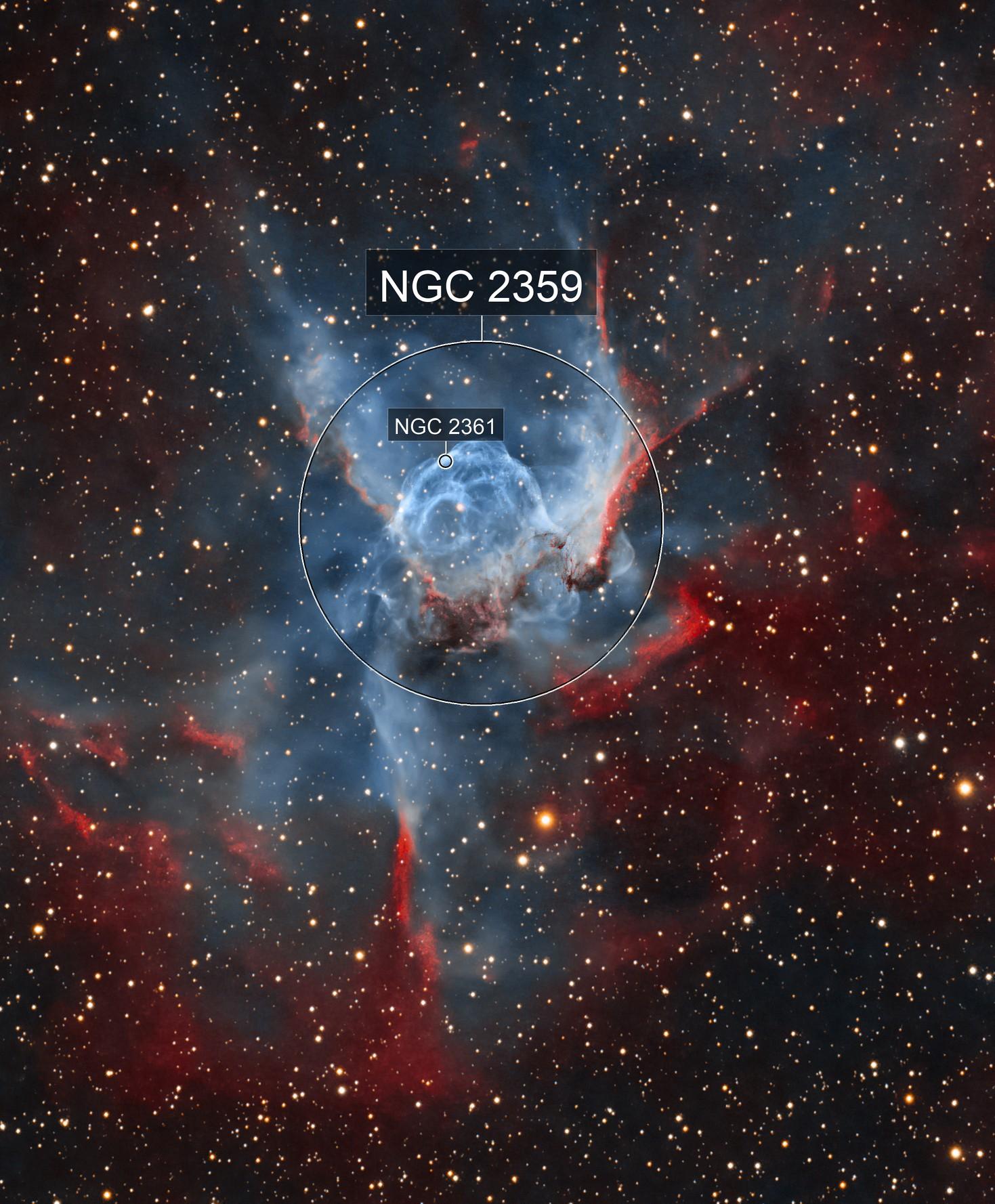 Thor's Helmet Nebula - NGC 2359 - HOO