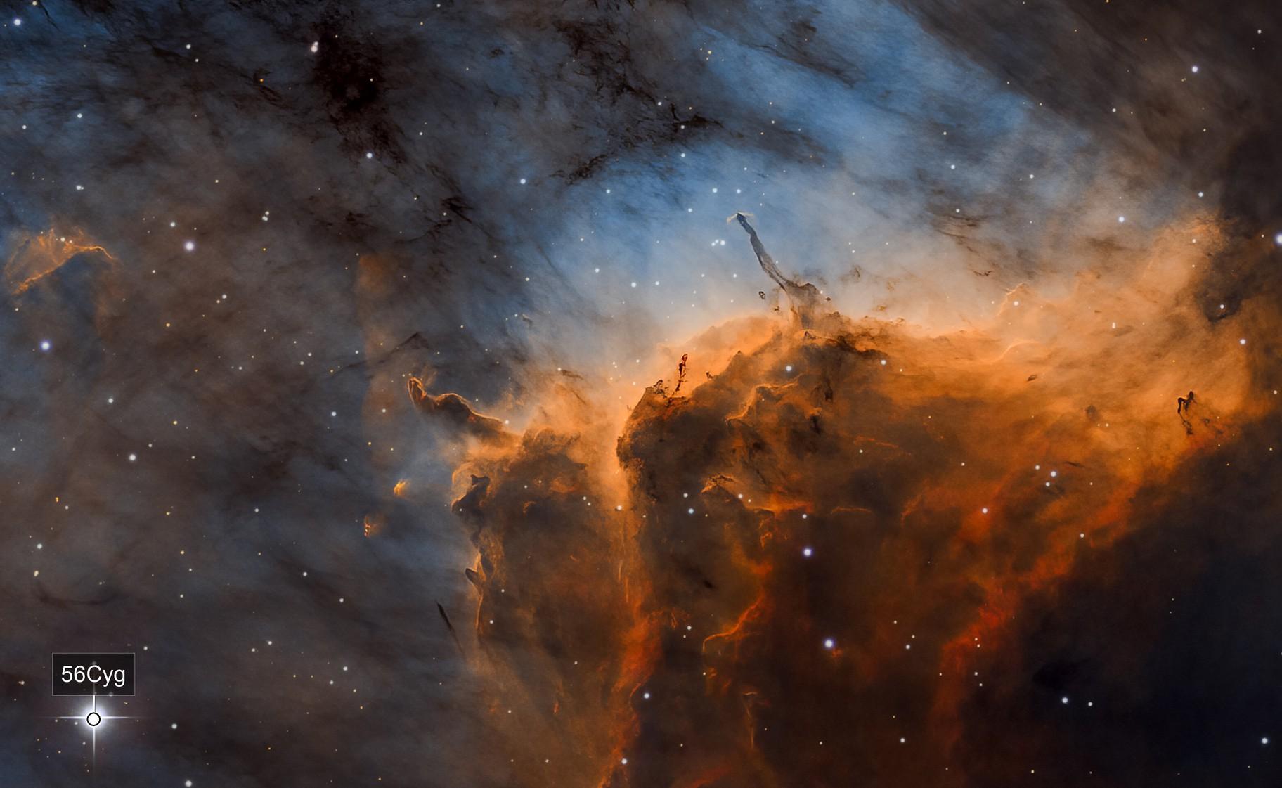 The Pelican Nebula IC 5067 IC 5070