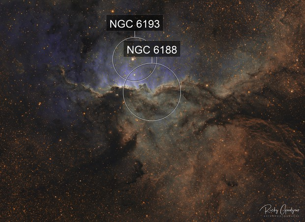 Fighting Dragons of Ara (NGC6188)