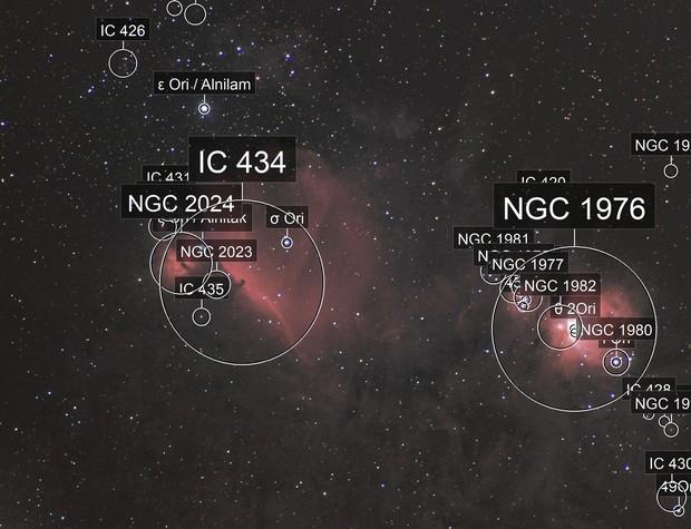 Wide field of Orions belt