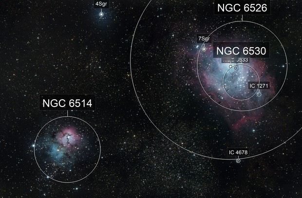Lagun and trifid Nebula