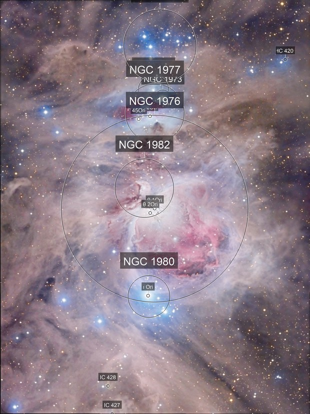 Dusty surroundings at M42