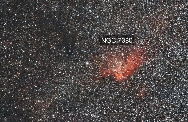 A field NGC 7380 Wizard Nebula -- Data by silkpericles
