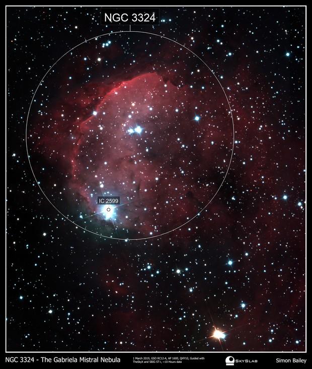 NGC3324 Gabriela Mistral Nebula