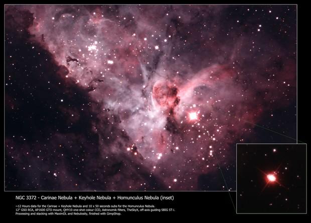 Eta Carinae plus Homunculus
