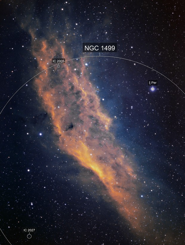 NGC 1499 - The California Nebula SHO