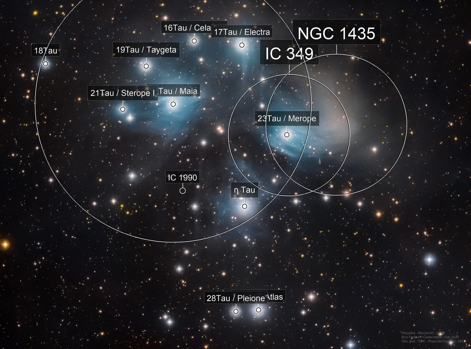 Pleyades - Messier 45 LRGB