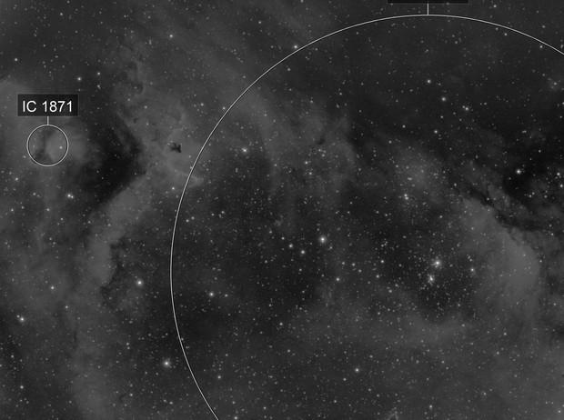 IC1848 IC1871 H-alpha