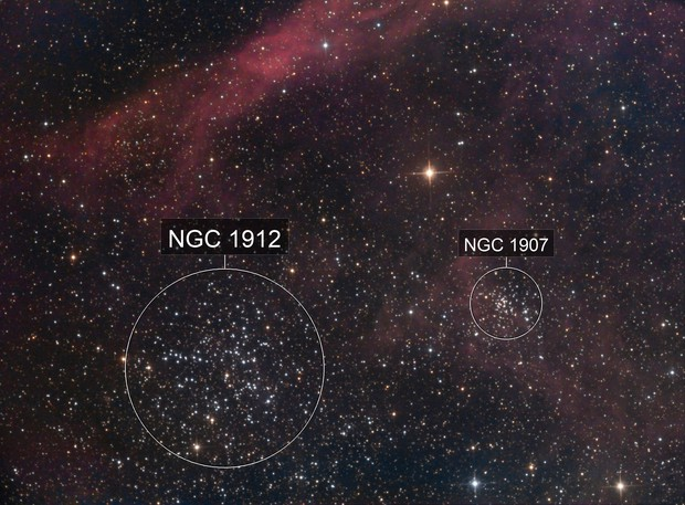 M038 2016 + NGC1907 + Abell9