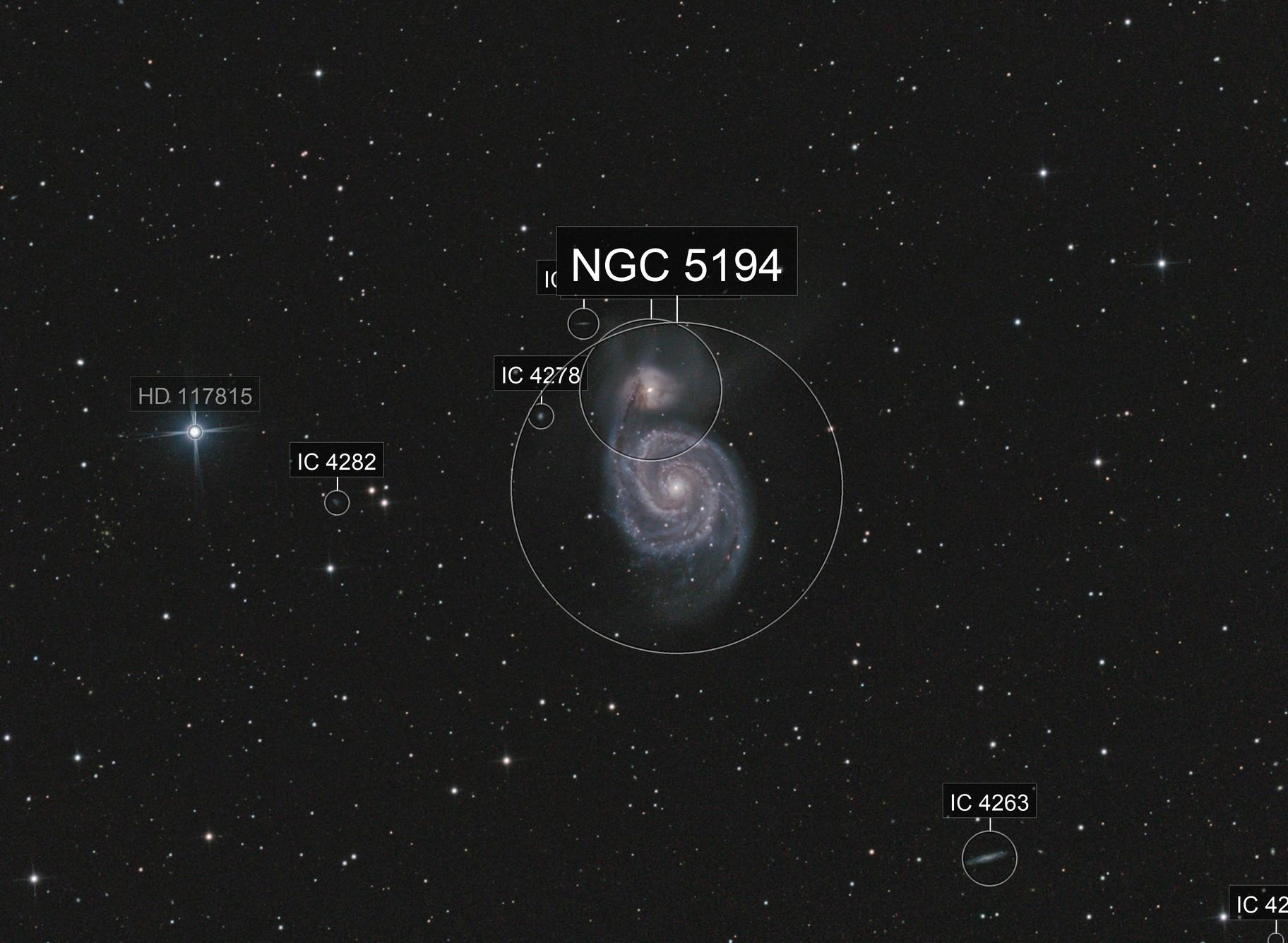M051 2021 + NGC5195