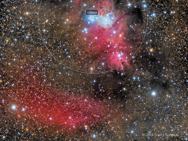 The Cone Nebula in LRGB