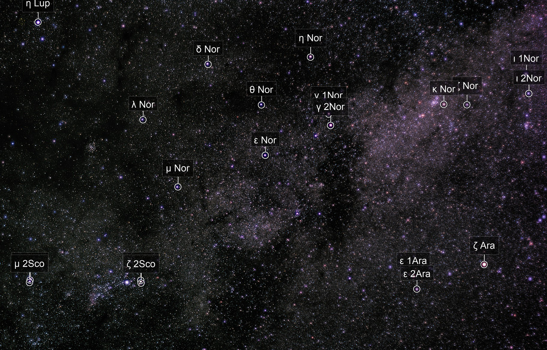 Table  of Scorpius Milky Way