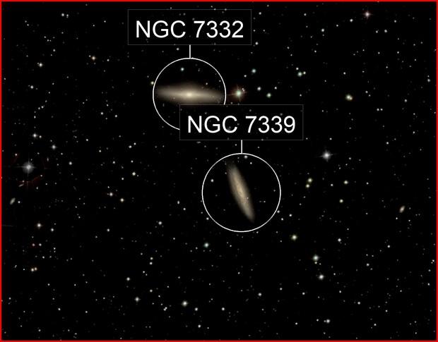 NGC7332 & & NGC7339   Galaxies