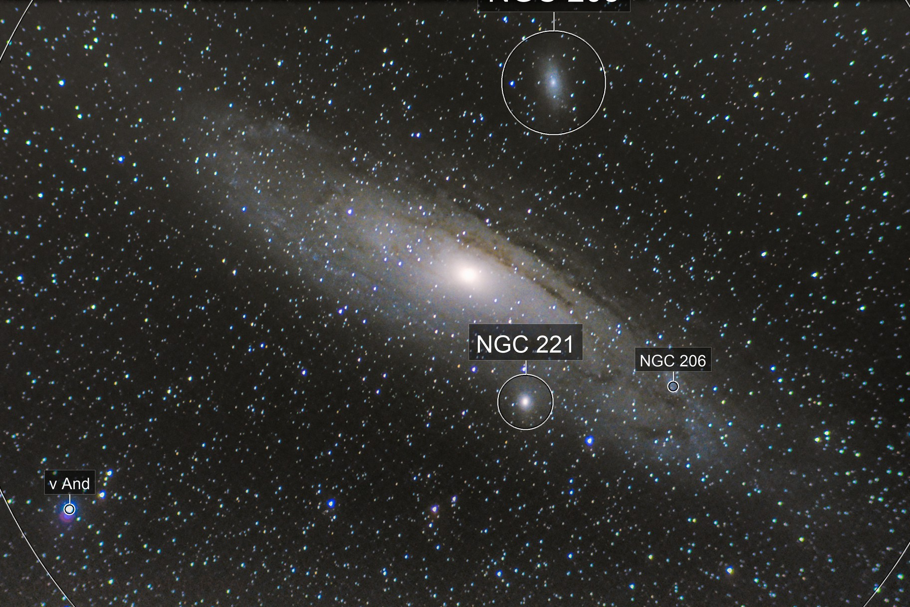 """M31 Andromeda Galaxie """"400mm First Light"""""""
