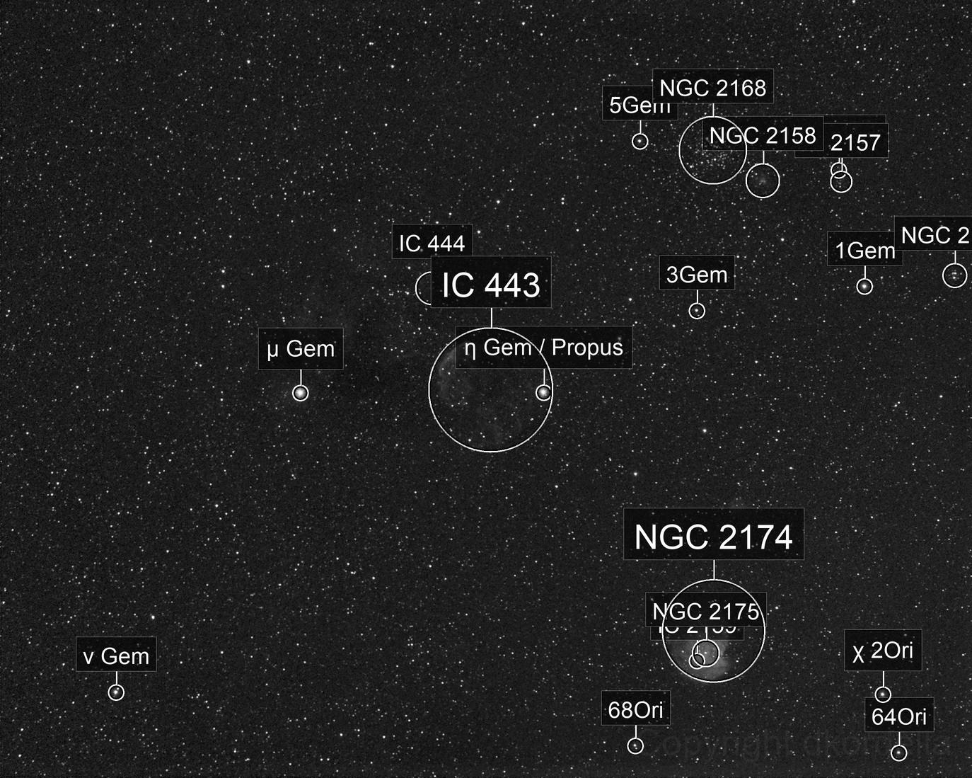 IC 443 - very wide field test