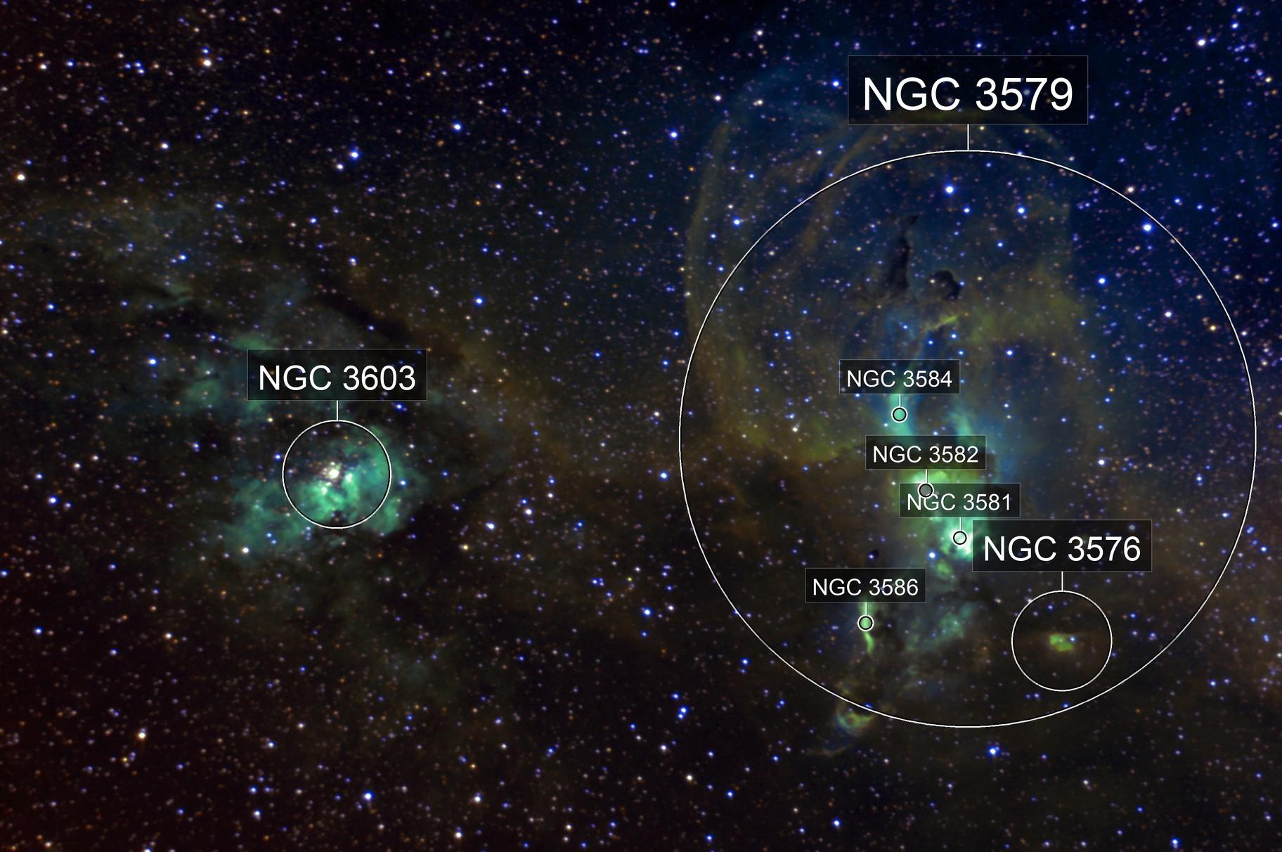 NGC 3576 - Statue of Liberty Nebula