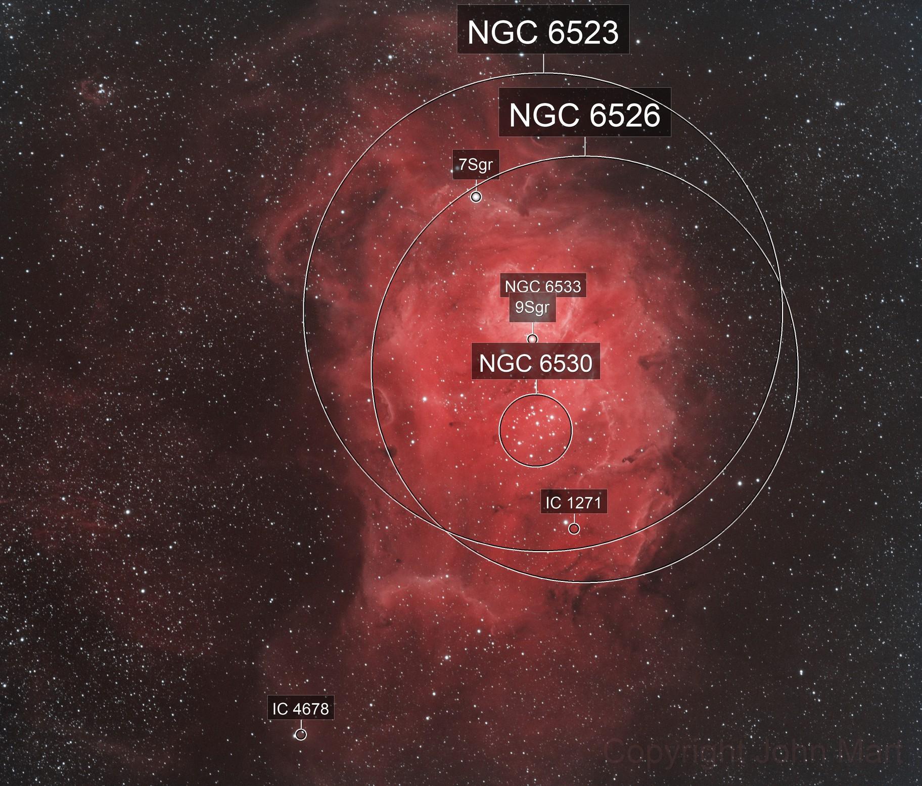 m8 lagoon nebula in HSS