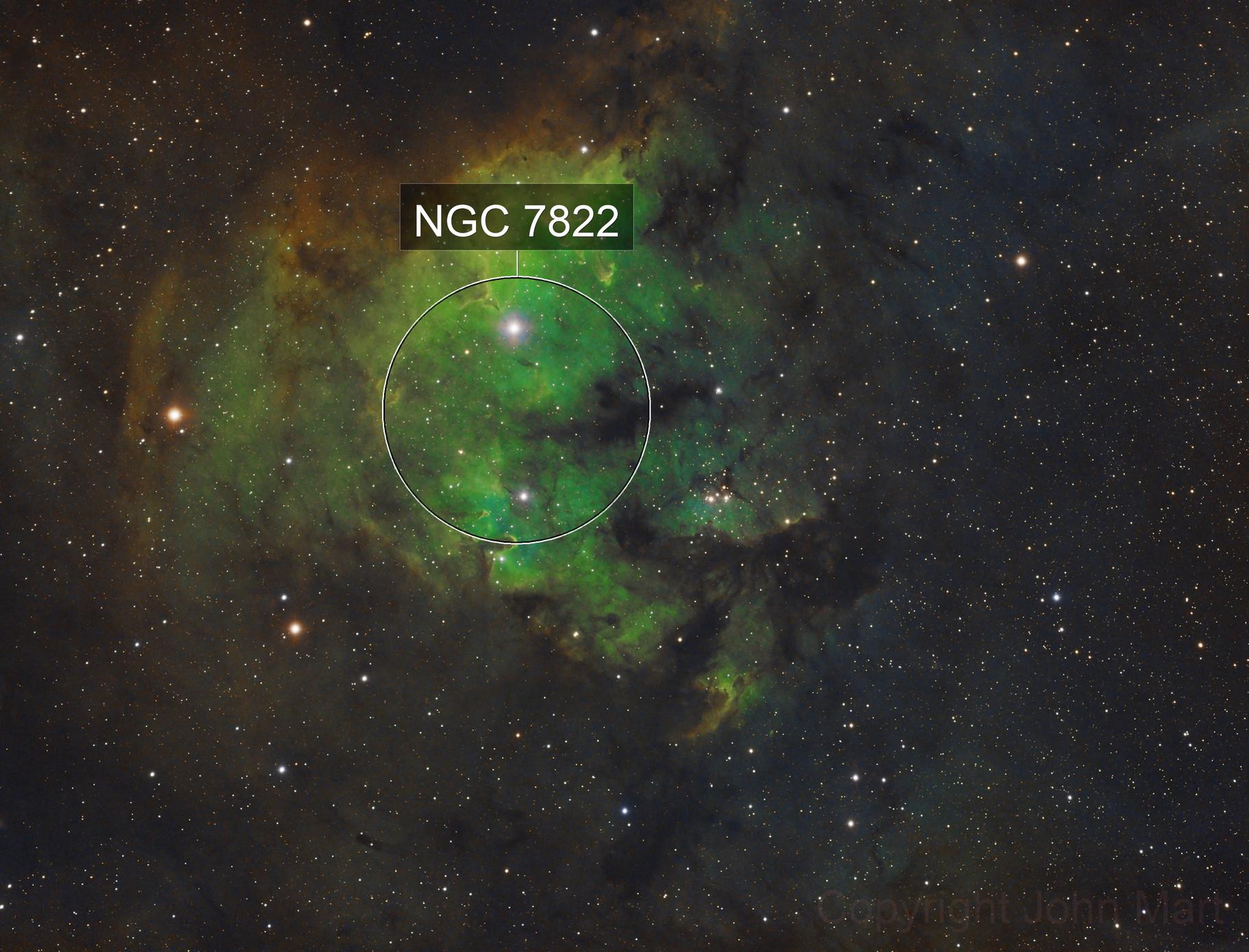 ngc 7822 in Cepheus