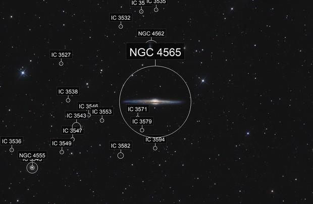 NGC4565 La galaxie de l'aiguille