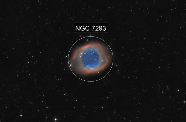 NGC7293 La nébuleuse de l'oeil de Dieu / Double hélice