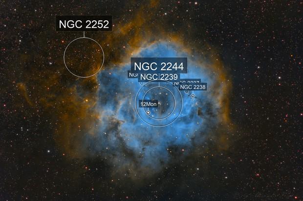 Rosettennebel SHO NGC2244